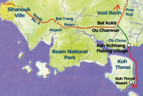 How to get to Koh Thmei Island.